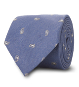 The Blue Hensley Paisley Tie