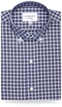 The Navy Hackett Plaid Button-Down