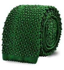 The Kelly Green Caden Knit Tie