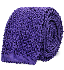The Light Purple Caden Knit Tie