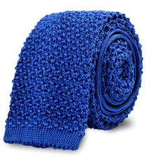The Blue Caden Knit Tie