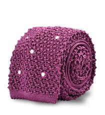 The Purple Knit Newton Dot Tie