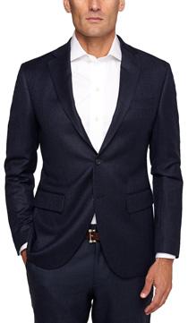 Blue Bickham Herringbone Sport Coat Slim