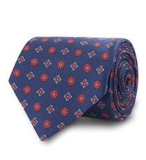 The Navy Waldburg Silk Tie