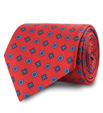 The Red Waldburg Silk Tie