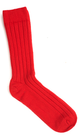 The Red Alastair Cashmere Socks