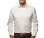 The White Fine Twill Worker Slim Fit modelcrop