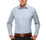 The Blue Gingham Worker Slim Fit modelcrop