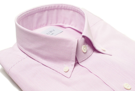The Purple Micro Stripe Slim Fit collar