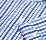 The Blue Starks Gingham Slim Fit singlecuff