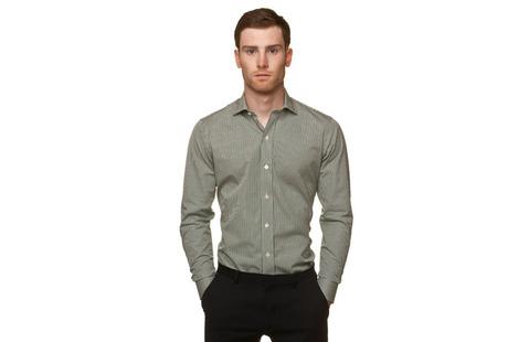 The Green Cross Cutaway Slim Fit modelcrop