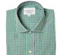 The Navy and Green Townsend Tattersall Slim Fit shirt