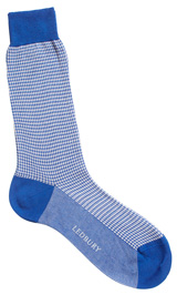 The Blue McCann Houndstooth Sock
