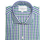 The Blue and Green Starks Gingham Slim Fit shirt