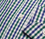 The Blue and Green Starks Gingham Slim Fit singlecuff