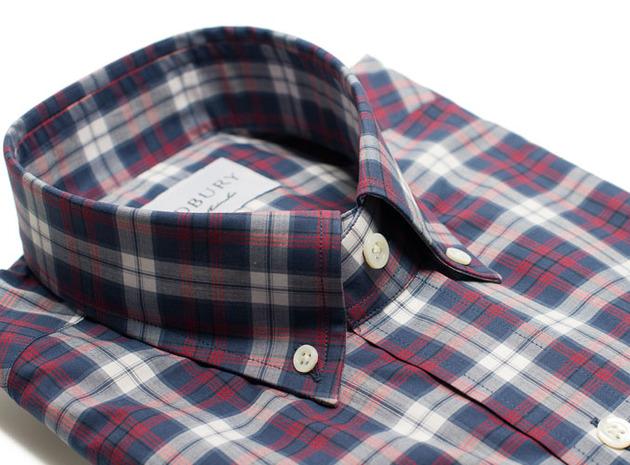 The Allen Plaid Slim Fit collar