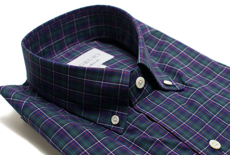 The Henderson Plaid Slim Fit collar