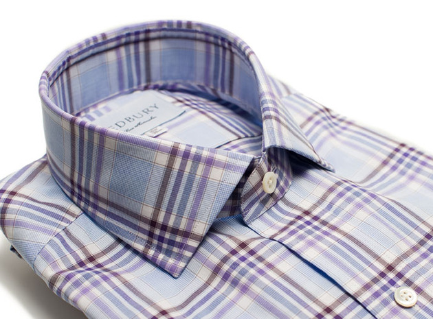 The Warsaw Plaid Slim Fit collar