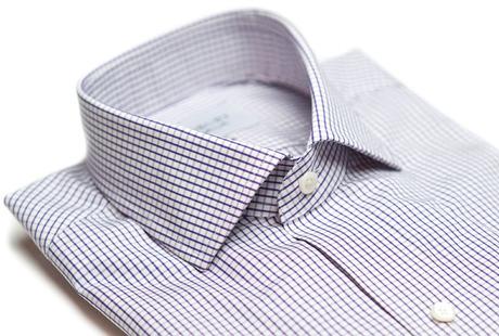 The Purple Box Check Spread  collar