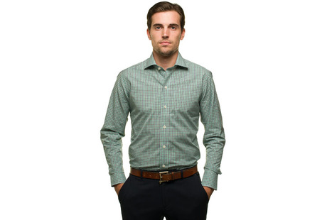 The Navy and Green Townsend Tattersall modelcrop