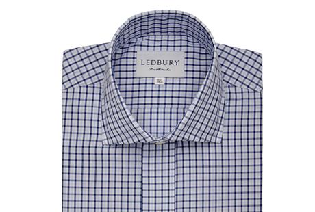 The Blue Townsend Tattersall  shirt