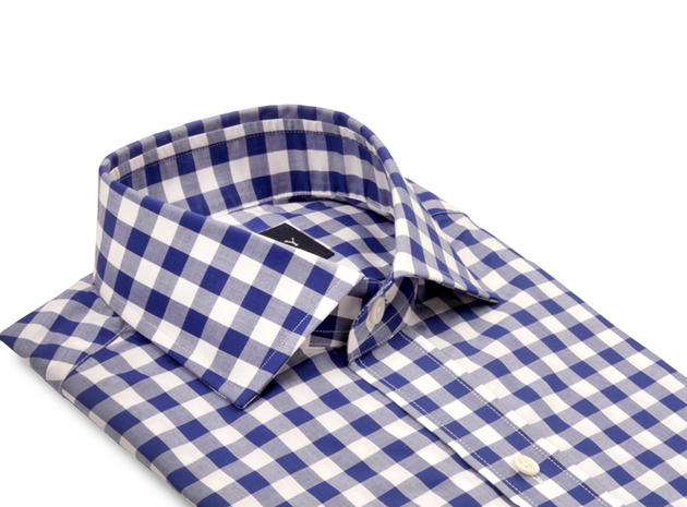 Blue McGuire Gingham collar