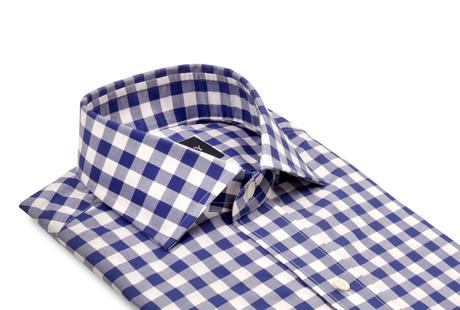 Blue McGuire Gingham collar