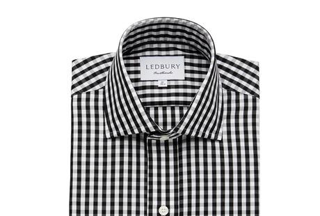 The Black Parker Gingham shirt