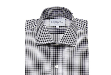 The Black and Grey Townsend Tattersall shirt