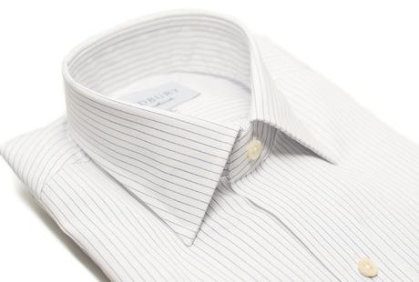 The White Pinstripe 120  collar