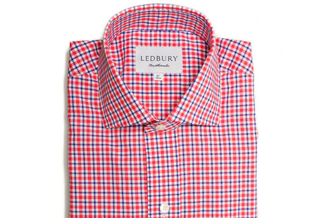 The Red and Blue Thompson Tattersall shirt