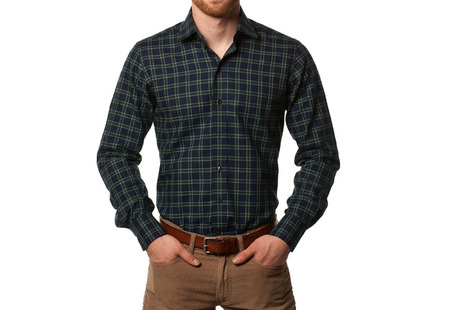The Black Watch Roosevelt Slim Fit modelcrop