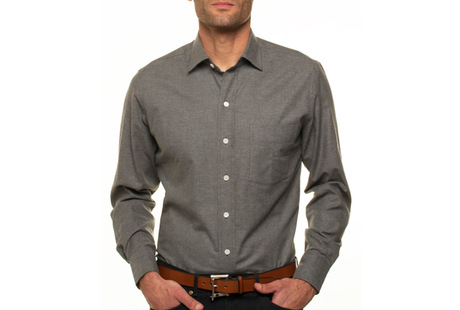 The Forbes Brushed Twill modelcrop