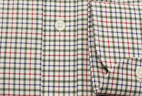 The Green and Red Madison Twill singlecuff