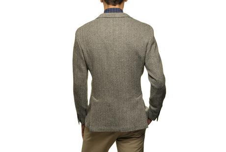 The Grey Herringbone Sport Coat Slim Fit shirt
