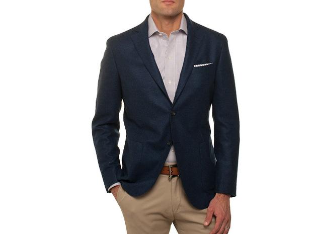The Loro Piana Sport Coat Slim Fit collar