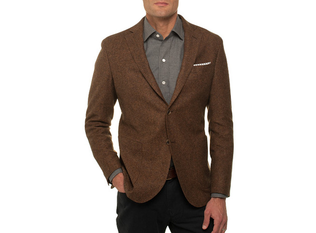The Rust Huxley Sport Coat Slim Fit collar