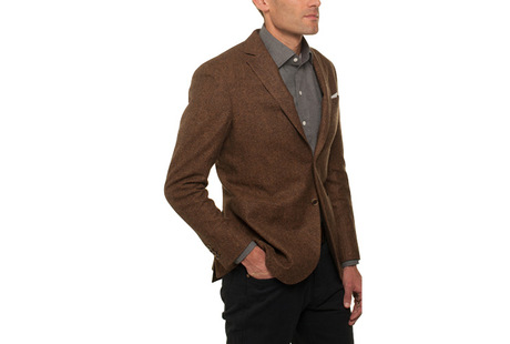 The Rust Huxley Sport Coat Slim Fit modelcrop