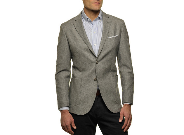 The Grey Huxley Sport Coat  collar