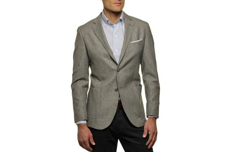 The Grey Huxley Sport Coat  collar