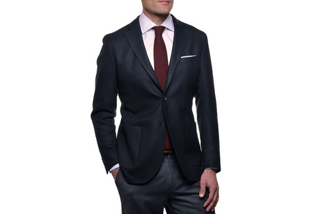 The Blue Paton Blazer Slim Fit collar