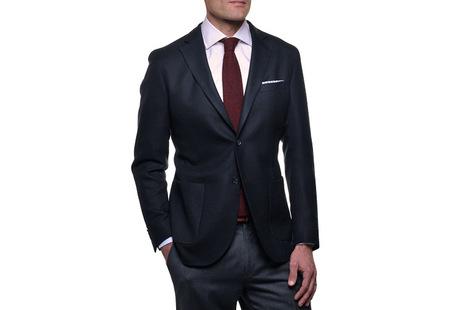 The Blue Paton Blazer Slim Fit collar