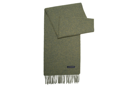 The Green Camden Lambswool Scarf modelcrop