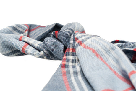 The Braden Block Check Merino Scarf shirt