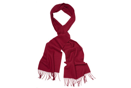 The Red Camden Lambswool Scarf collar