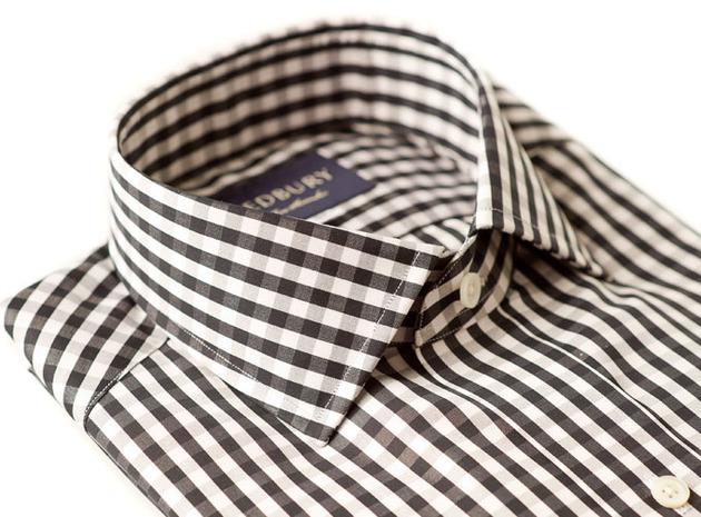 The Black Parker Gingham Slim Fit collar