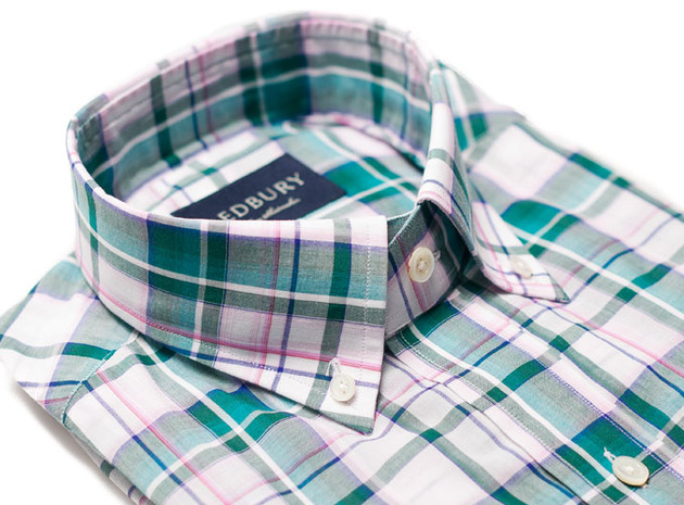 The Green Crawford Plaid Regular collar