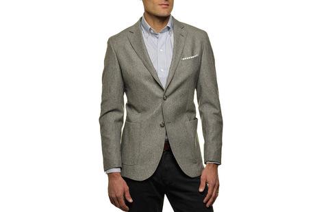The Grey Huxley Sport Coat Slim Fit collar