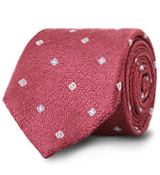 The Red Lennox Basketweave Tie