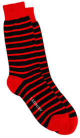 The Red Ainsley Stripe Sock